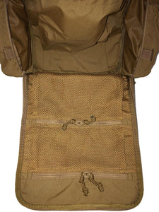 High Range Outdoors Zulu 20 Clamshell Day Pack Coyote Brown Internal Mesh Pockets