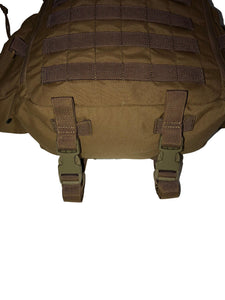 High Range Outdoors Zulu 20 Clamshell Day Pack Coyote Brown Removable Lash Straps