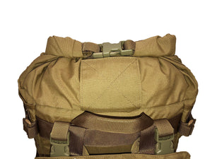 High Range Outdoors SR25 Coyote Brown Roll Top Hydration Port Pack