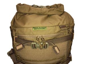 High Range Outdoors SR25 Coyote Brown Roll Top Backpack