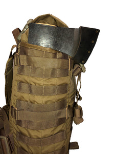 High Range Outdoors SR25 Coyote Brown Side Molle Pals Bushcraft Pack Axe