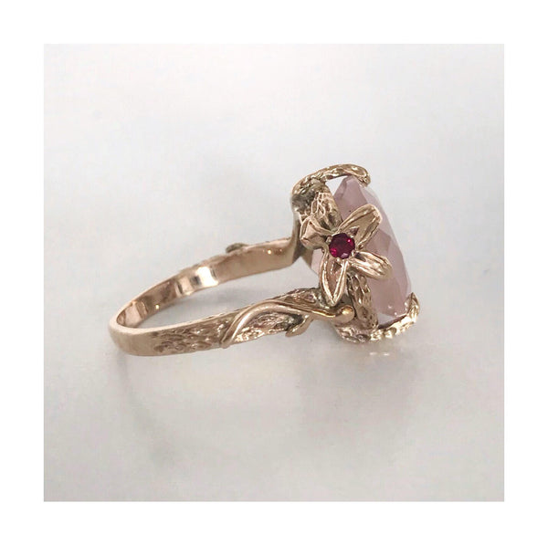 Ivy Ring - Rose Quartz