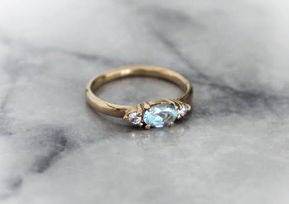 Indie Aquamarine Ring