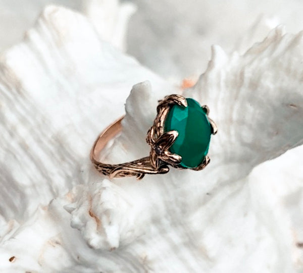 Ivy Ring - Green Onyx