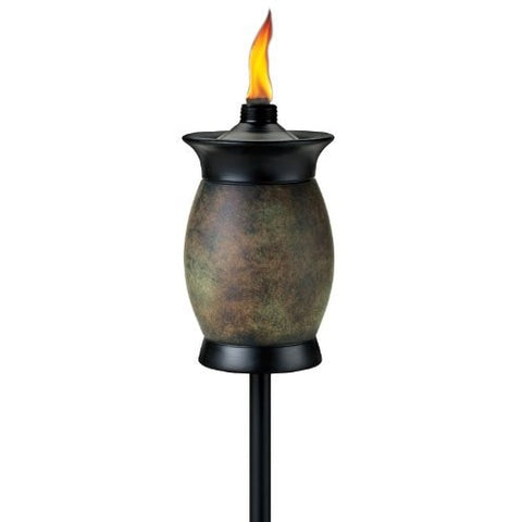 TIKI Brand 64-inch Resin Jar Torch 4-in-1 Stone Color - Tropically Inclined