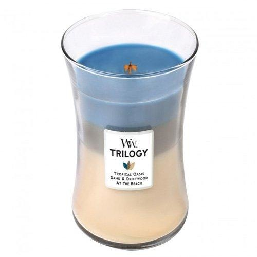 WoodWick Trilogy 22 Oz. Candle - Nautical Escape - Tropically Inclined