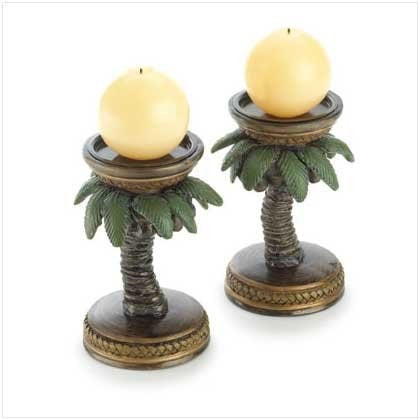 Gifts & Decor 2-Palm Tree Tropical Home Candleholder - Tropically Inclined
