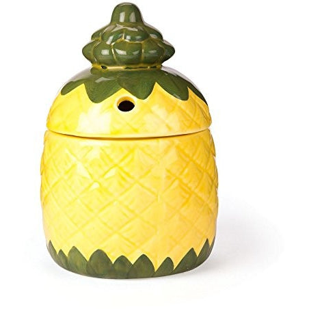 Pineapple Ceramic Tiki Mug with Lid - 12 oz - Tropically Inclined