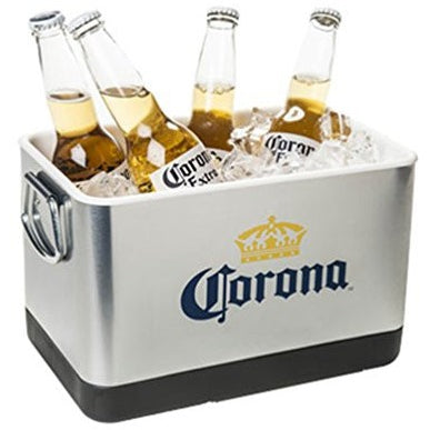 Corona Beer & Ice Bucket - Stainless Steel - Tropically Inclined