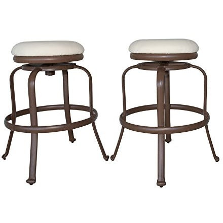 Panama Jack PJO-1401-ESP-BS Tiki Backless Swivel Barstools, Set of 2, Espresso - Tropically Inclined