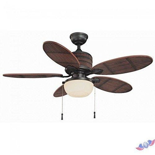 Home Decorators Indoor/Outdoor Tahiti Breeze 52-Inch Ceiling Fan, Natural Iron - Tropically Inclined