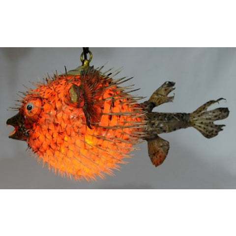 "Spiny Blowfish Pufferfish Light / Large 15""-18"" - Tropically Inclined"