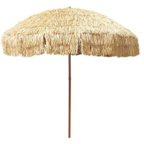 8 Foot Deluxe Tropical Island Thatched Umbrella - UPF 50+ Protection - Perfect for Tiki Bar, Beach, Patio, Deck, Garden, Restaurant, Cafe or Any Place You Want to Add a Tropical Touch Outdoors! - Tropically Inclined