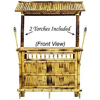 RAM Gameroom Products 60-Inch Bamboo Tiki Bar - Tropically Inclined