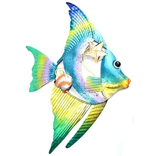 BEAUTIFUL UNIQUE colorful NAUTICAL FISH METAL WALL ART - Tropically Inclined
