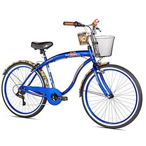 Margaritaville Coast Is Clear Men's Beach Cruiser Bike, 26-Inch - Tropically Inclined