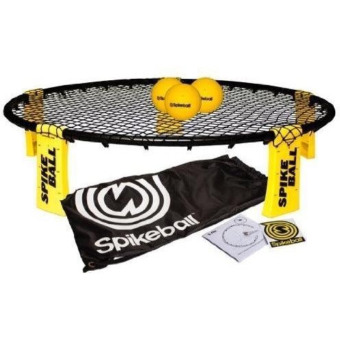 Spikeball Combo Meal - As Seen On Shark Tank TV - 3 Ball Set, Drawstring Bag, And Rule Book - Tropically Inclined