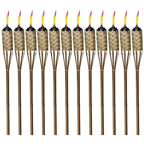 TIKI Brand 57-Inch Luau Bamboo Torch - 12 pack - Tropically Inclined