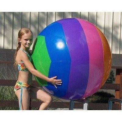Prextex Giant 42'' Inflatable Beach Ball with Mesh Beach Bag ( 2 Pack ) - Tropically Inclined