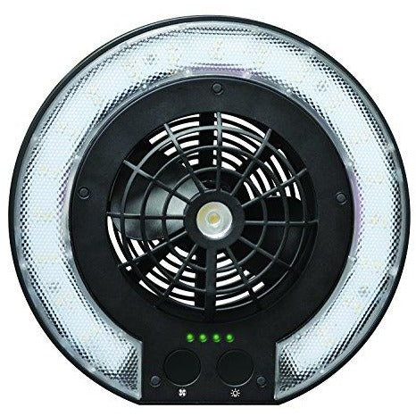 Caravan Sports DFL01055 3-In-1 Multifunctional Outdoor Combo Disc Fan Light, Black - Tropically Inclined