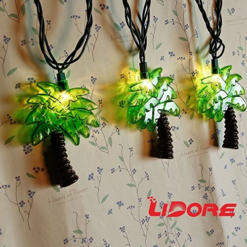 LIDORE Palm Tree 10 counts String Lights. Warm white light for summer party - Tropically Inclined