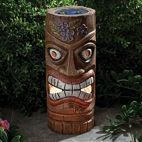 Bits And Pieces 12 Inch Tall Solar Tiki Statue