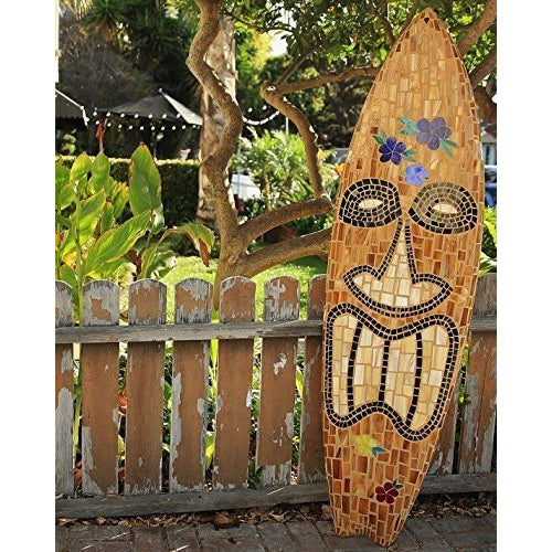 TIKI Glass Mosaic Surfboard - Tropically Inclined
