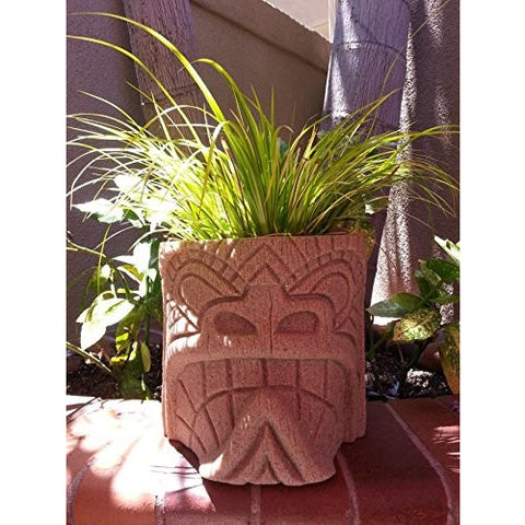 Soul Tiki Planter NEW COLOR (Sand Stone) - Tropically Inclined