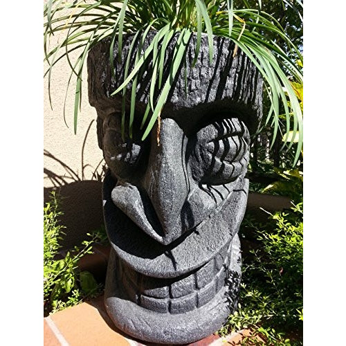 Happy Tiki Planter (Black Granite) - Tropically Inclined