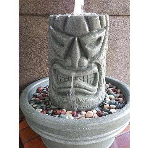 Angry Tiki Fountain (Granite Green) - Tropically Inclined