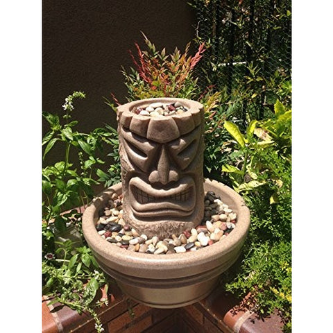 Angry Tiki Fountain (Sand Stone) - Tropically Inclined