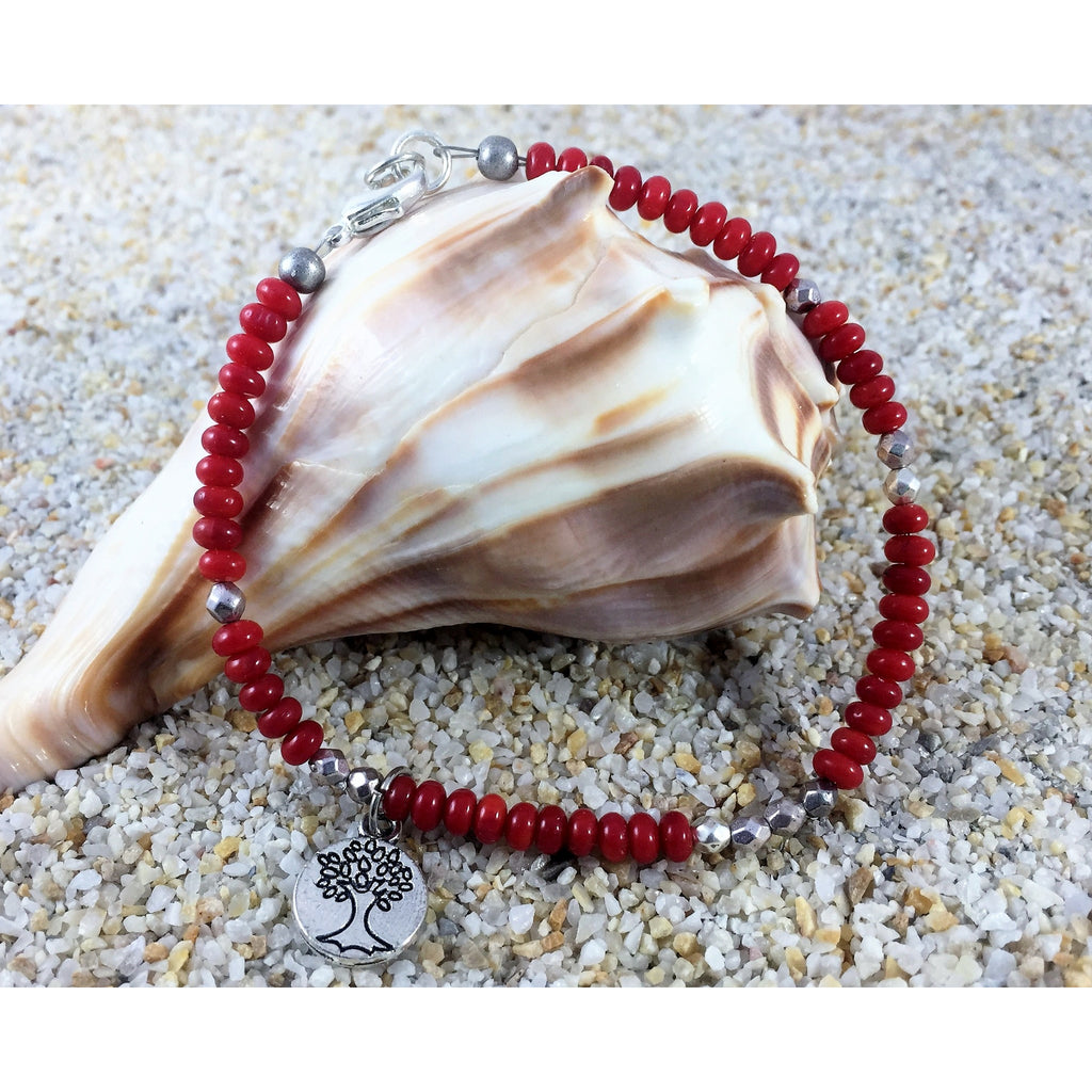 Red Coral Bracelet - Tropically Inclined