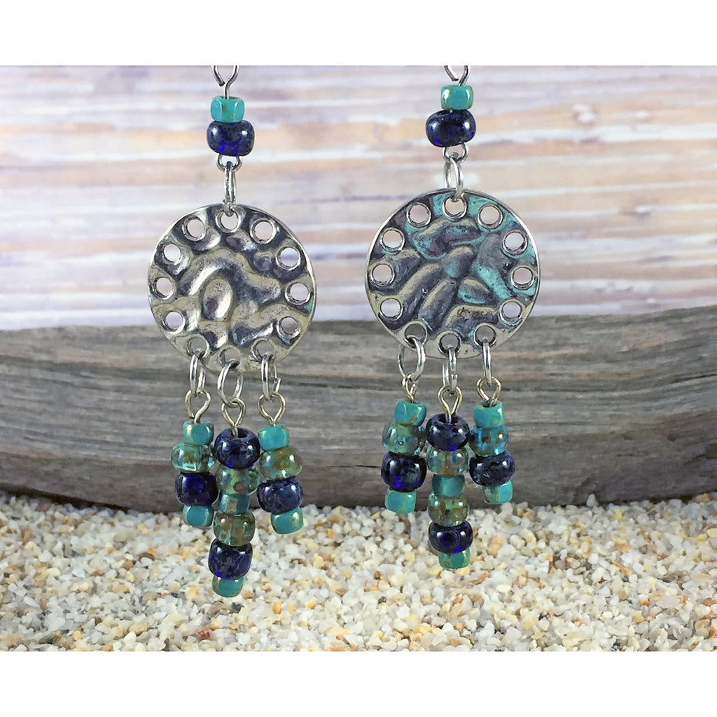 Aqua Sapphire Chandelier Earrings - Tropically Inclined