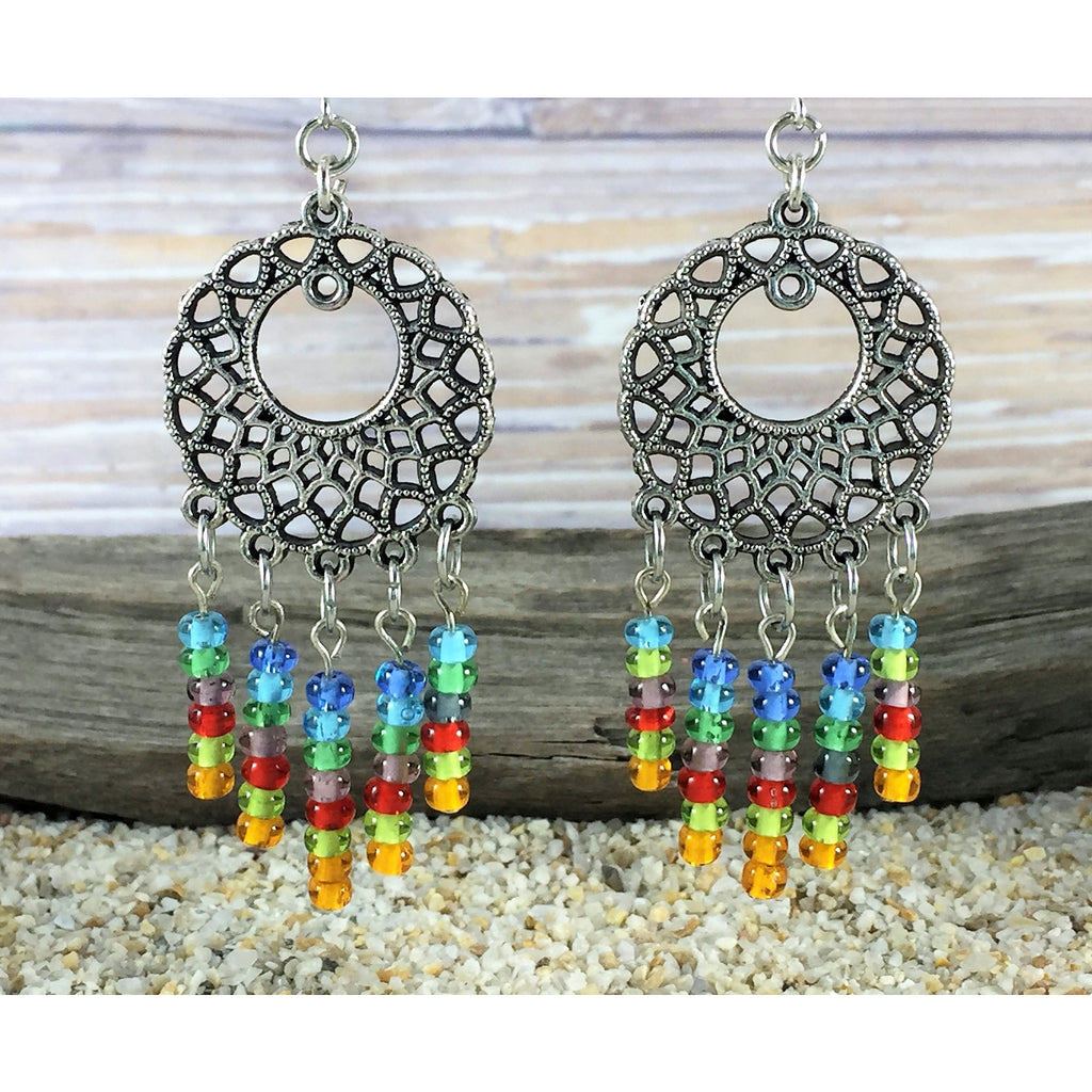 ANTIQUE SILVER CHANDELIER EARRINGS - Tropically Inclined