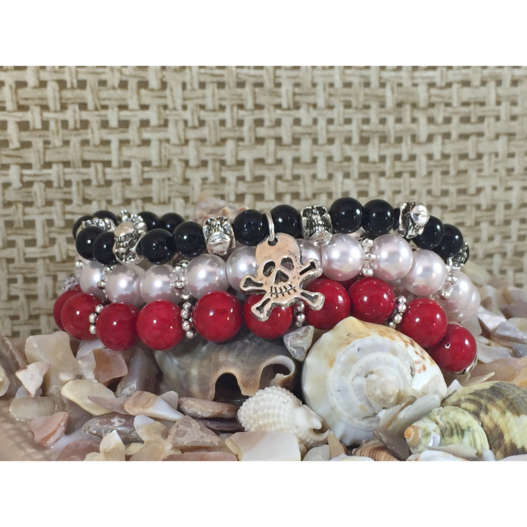Yo Ho Trio Stacking Stretch Bracelets - Argh! - Tropically Inclined