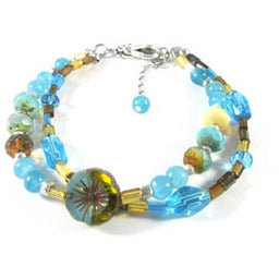 Turquoise Sea Bracelet - Tropically Inclined