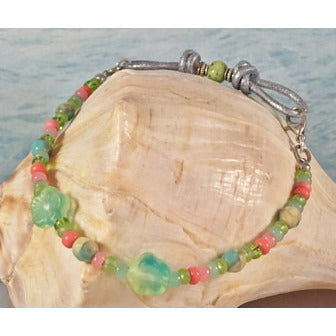 Surfer Girl Leather Bracelet - Tropically Inclined