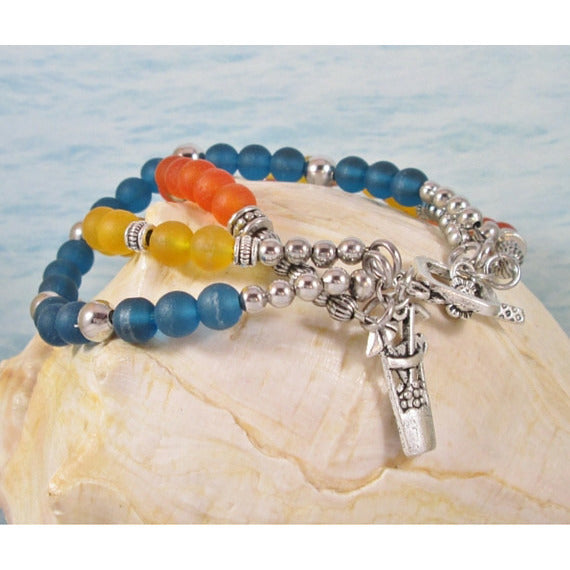 Tropical Sea Glass Bracelet - Tropically Inclined