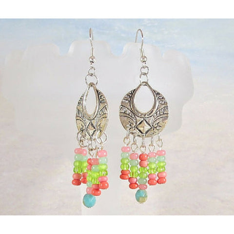 Tutti Frutti Chandelier Earrings - Tropically Inclined