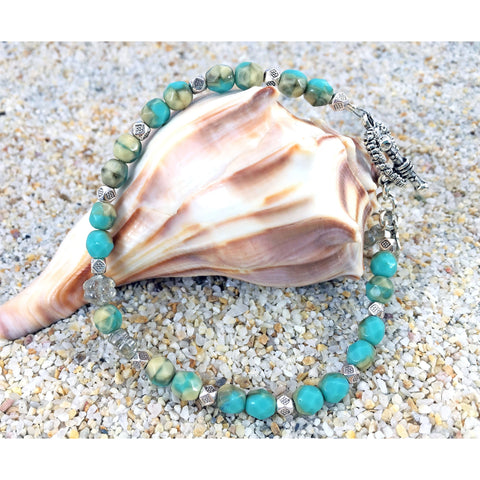 Beachy Czech Glass Bracelet - Tropically Inclined