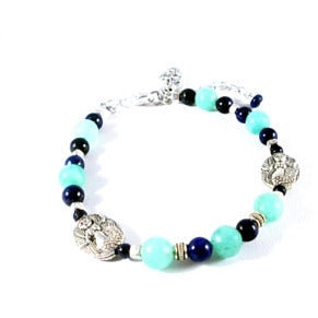 Hemimorphite Mermaid Bracelet - Tropically Inclined