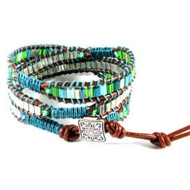 Emerald Isle Wrap Bracelet - Tropically Inclined