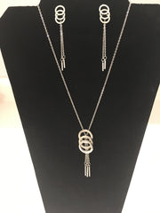 Circle Drop Necklace Set
