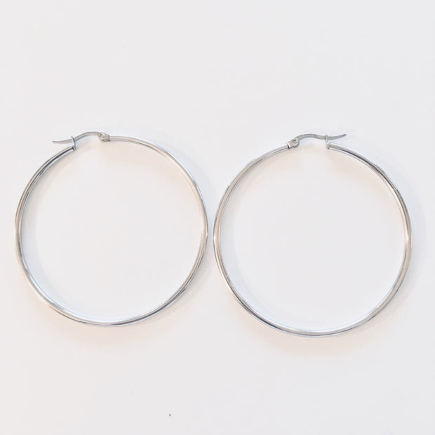 "2"" Stainless Steel Hoop Earrings"