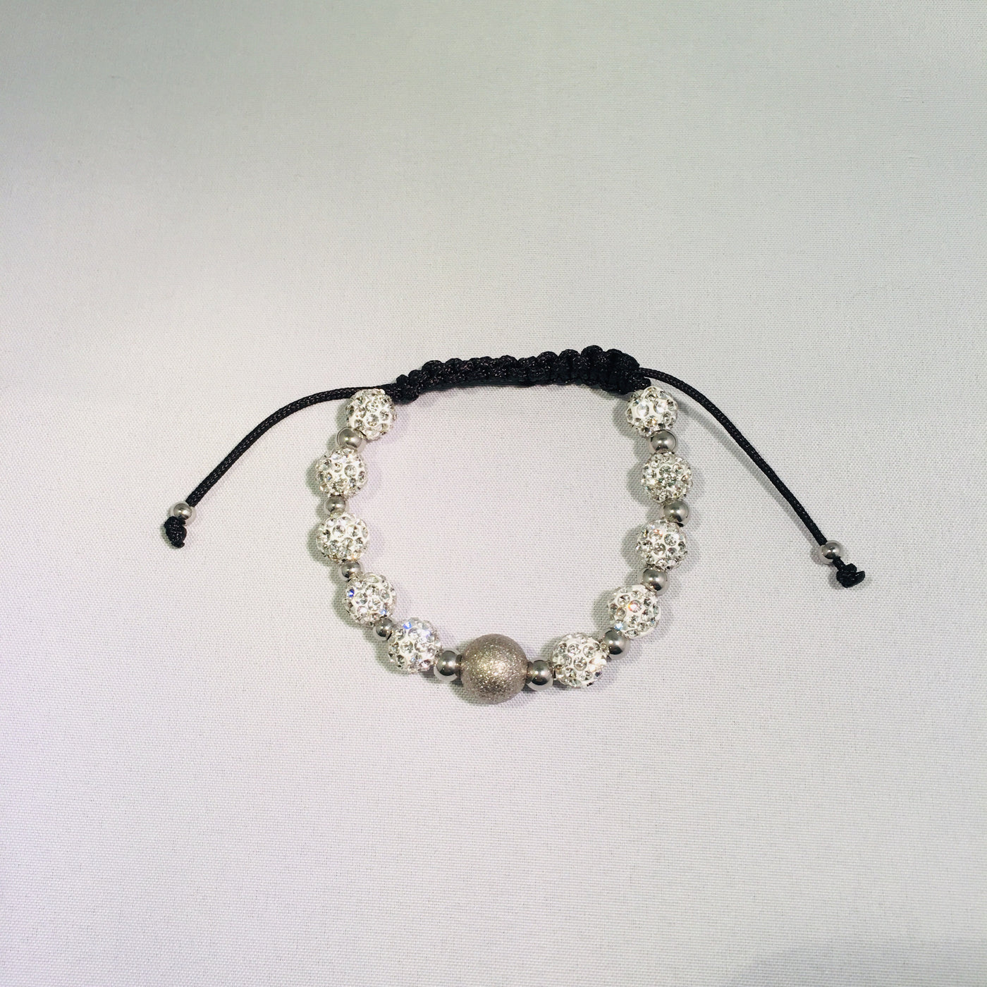 Shamballa Bracelet With Crystals