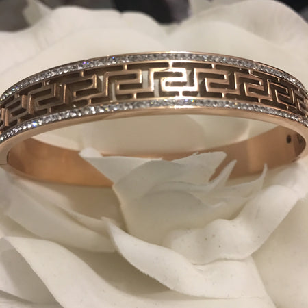 Rose Gold Greek Key Bracelet