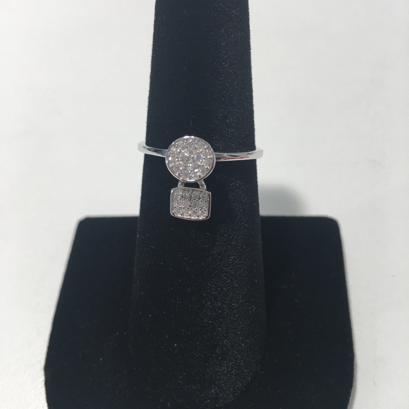 Sterling Silver Ring W/Drop