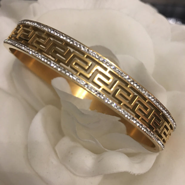 Gold Plated Greek Key Bracelet
