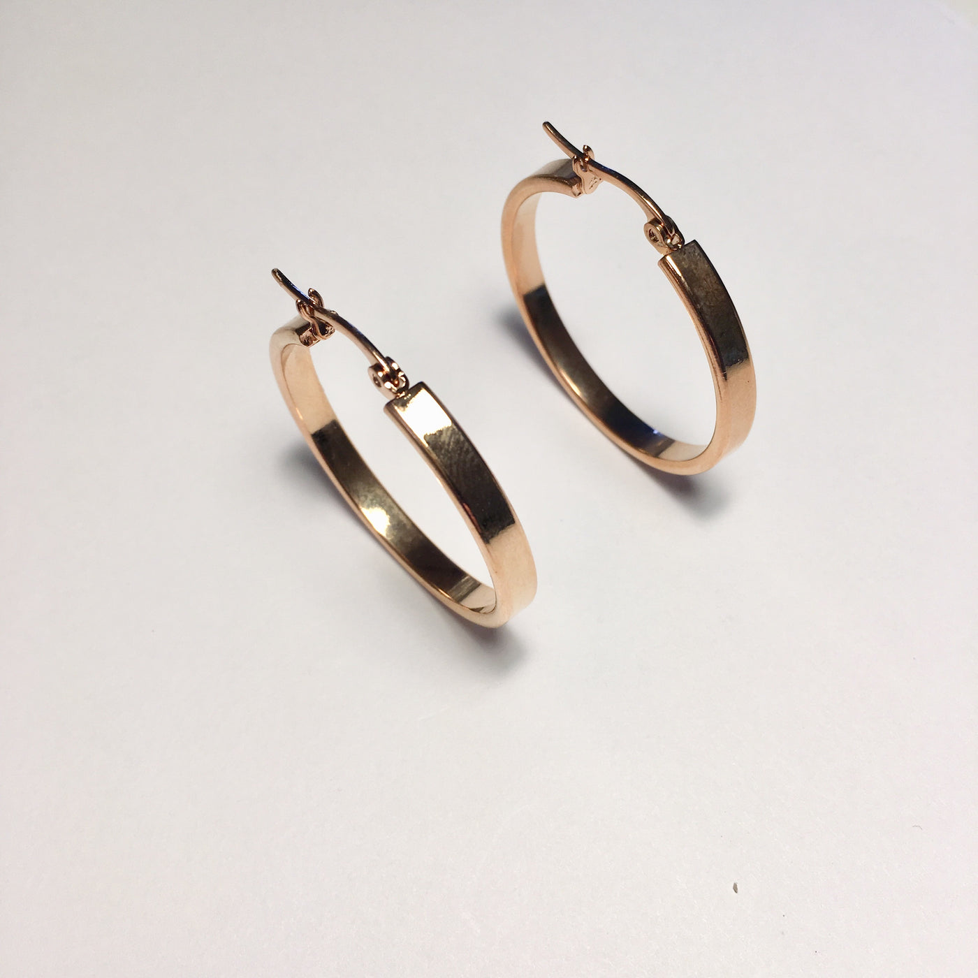 Rose Gold Medium Size Hoop Earrings
