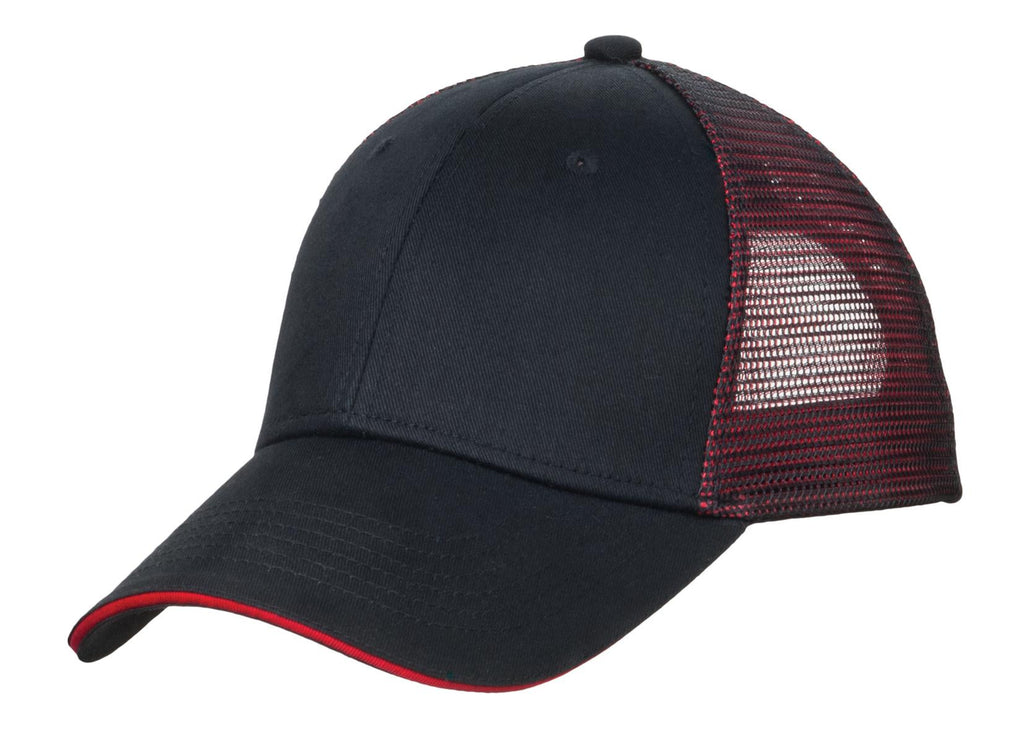 Port Authority Double Mesh Snapback Sandwich Bill Cap. C818